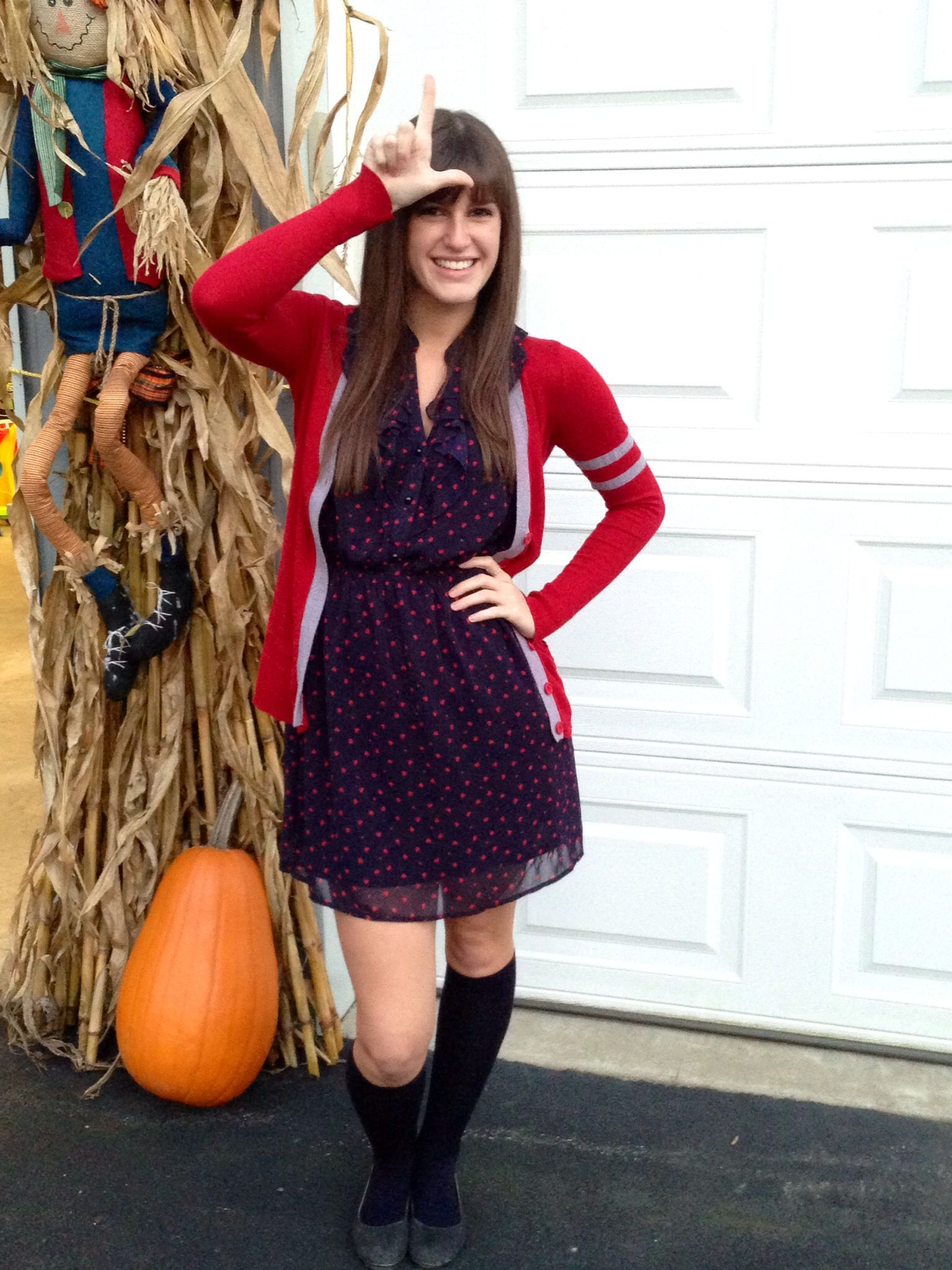 rachel berry costume glee diy this girl looks freakishly
