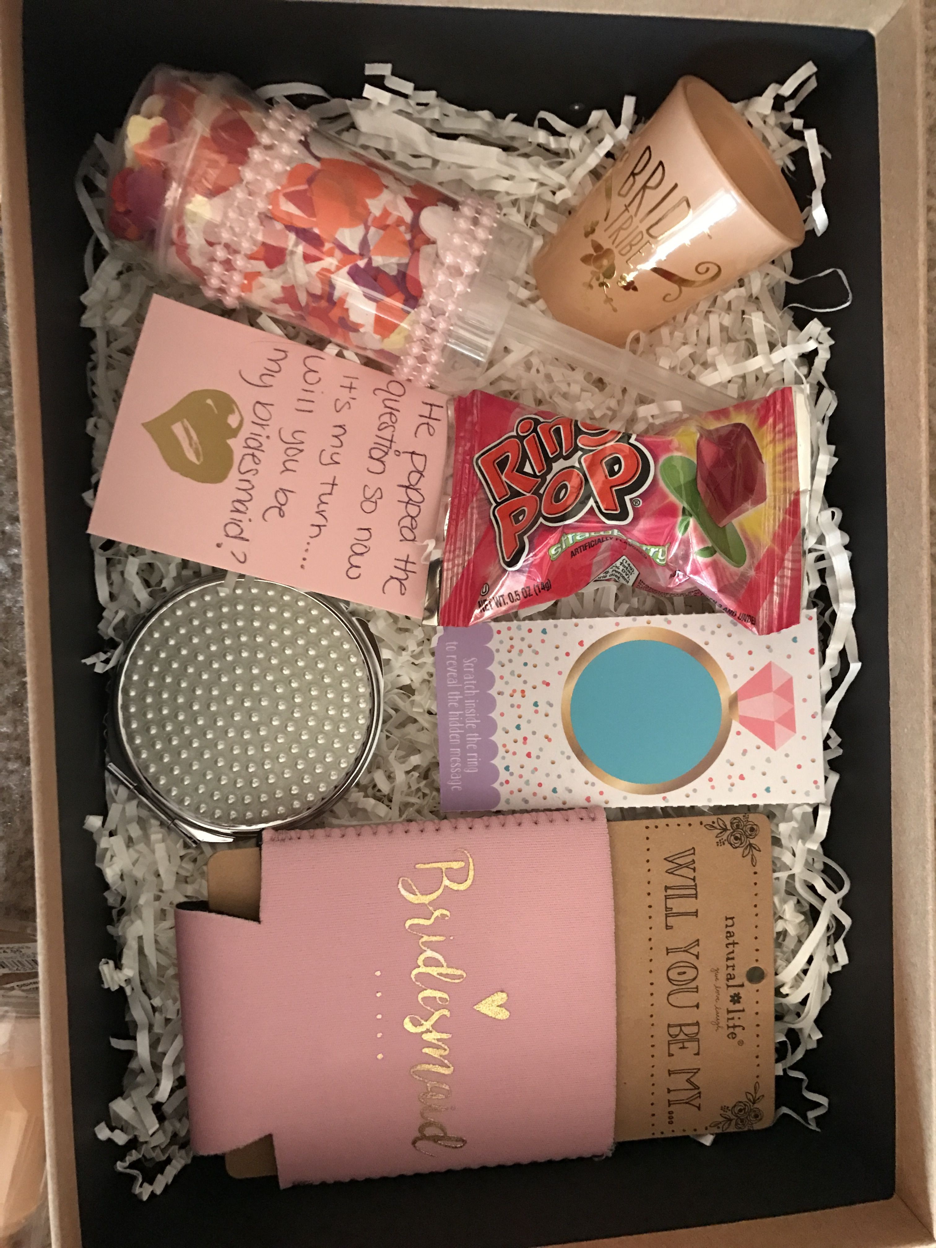 Ideas for bridesmaid box asking your girls to a part of