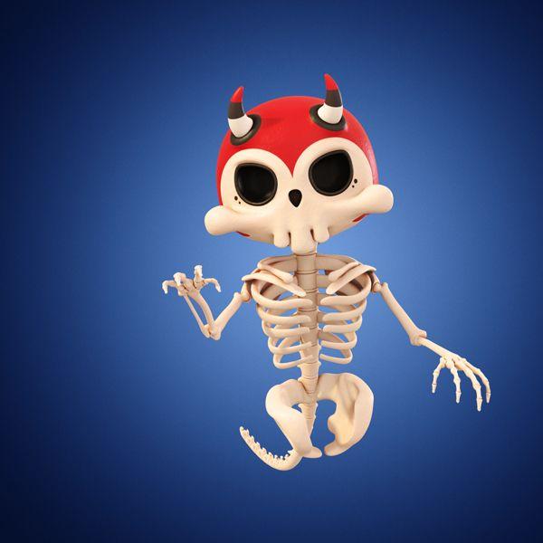 Skeletony by Teodoru Badiu, via Behance