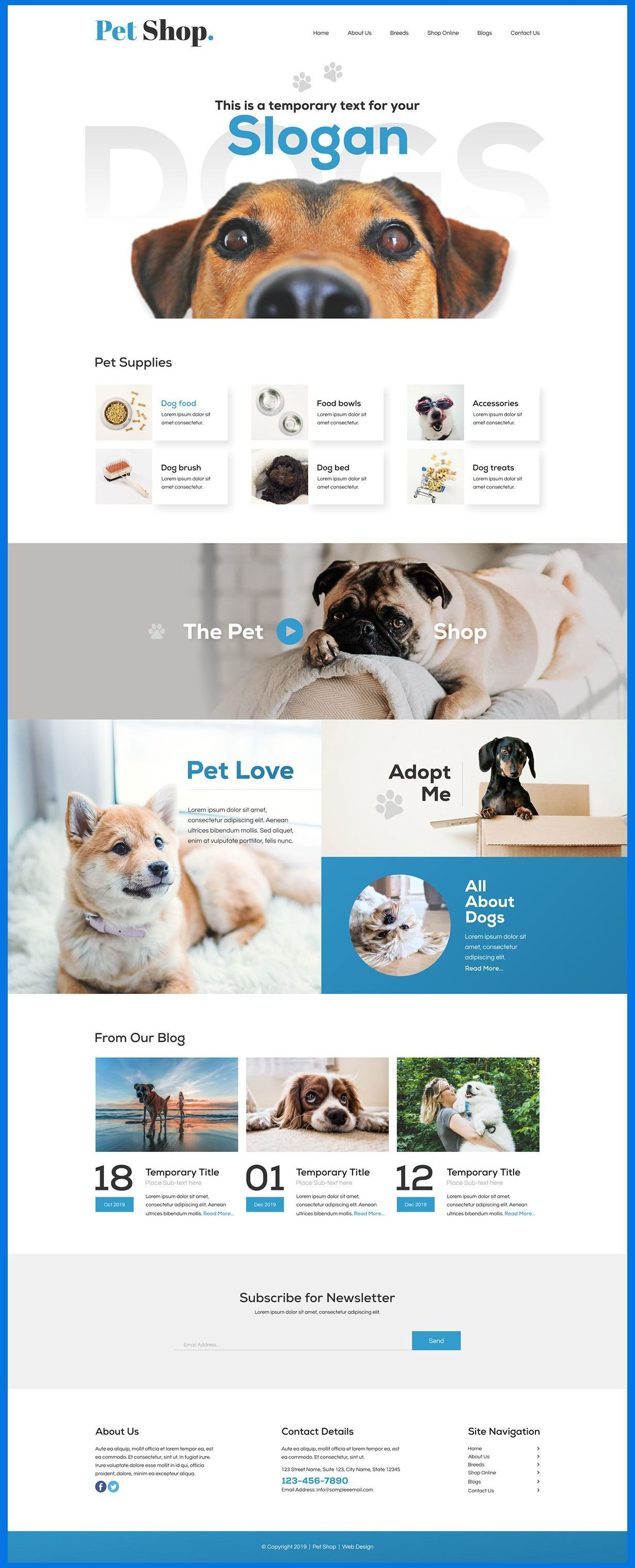 Web Banner Design Graphics Pet Shop Web Design Inspiration
