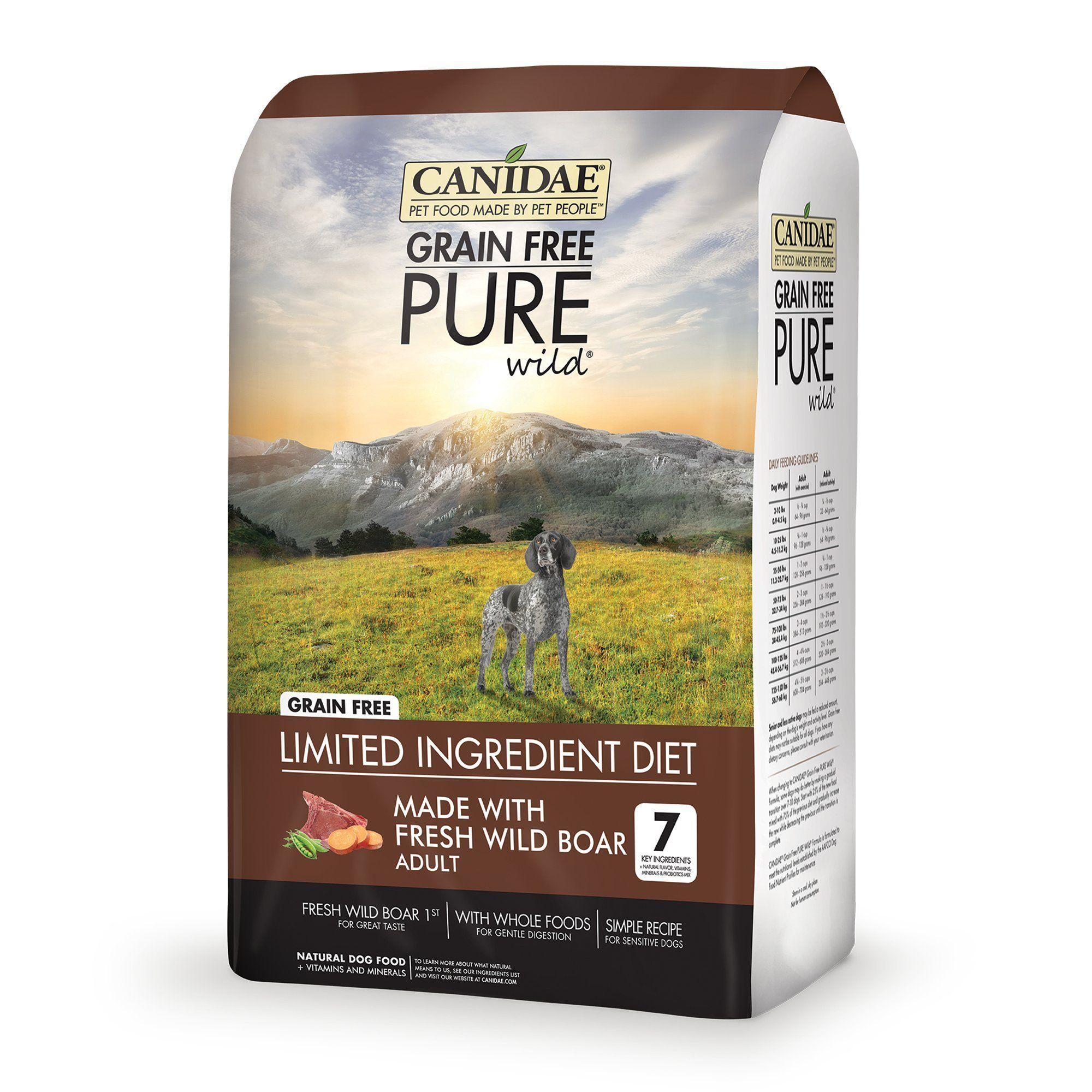 Canidae Grain Free Pure Wild Adult Fresh Wild Boar Dog Food 4 Lbs