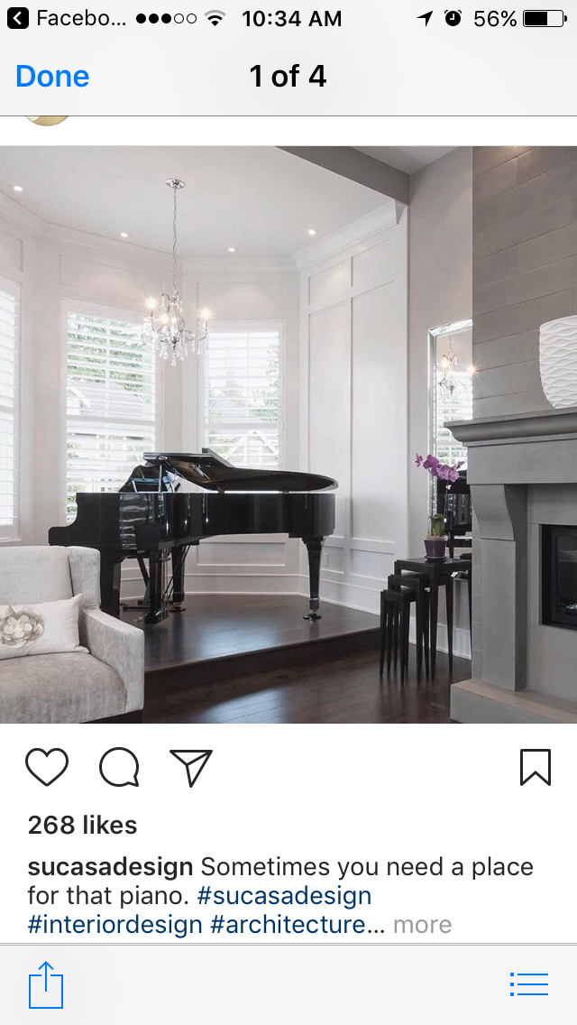Crystal Chandelier above piano | Piano room decor, Grand ...