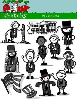 President Presidents Day Fun Clipart Graphics 300dpi With Images Clip Art Fun Graphic