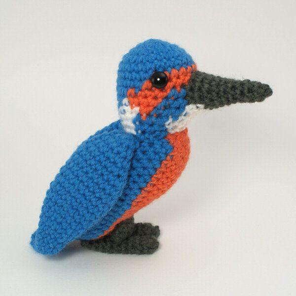 PDF Kingfisher amigurumi bird CROCHET PATTERN | Häkelanleitung ...
