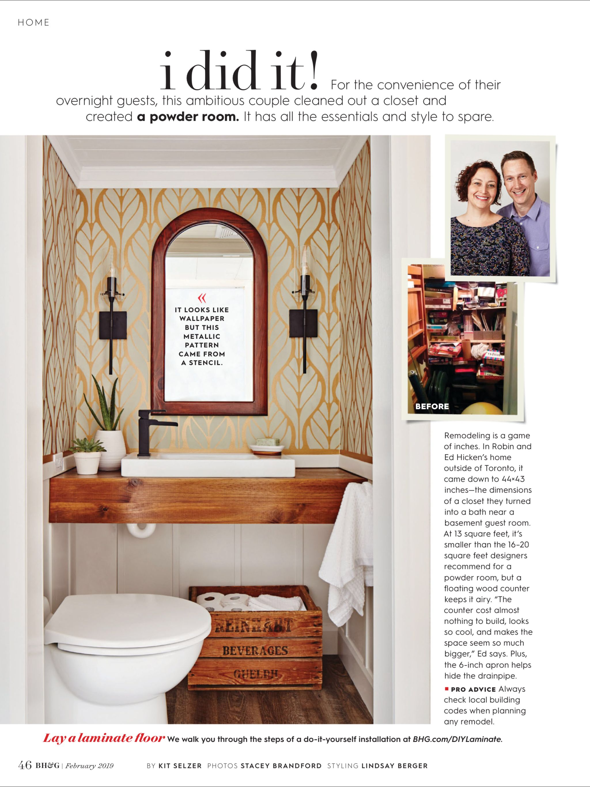 """""""I Did It"""" from Better Homes and Gardens, February 2019 ..."""