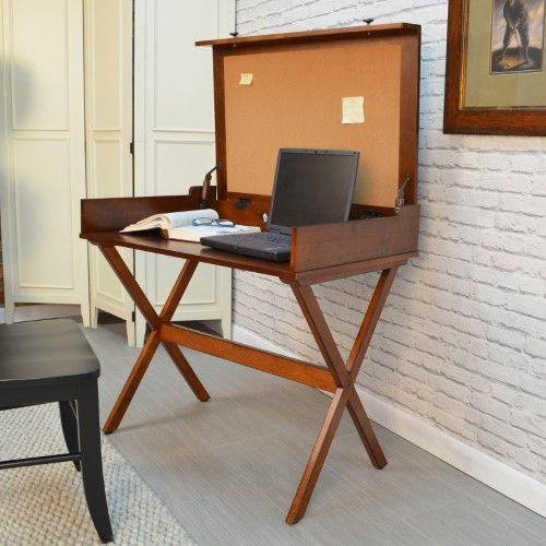 Smallspace Living: Carolina Quinn Flip Top Cork (Brown) Board Desk