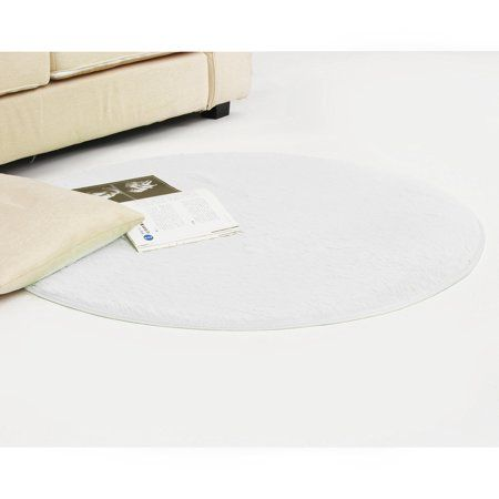 Photo of 40 inch Round Rugs Anti Skid Fluffy Shaggy Circular Area Rug Dining Room Bedroom Home Table Office Sitting Drawing Room Gateway Door Carpet Floor Mat 100x100x3cm – Walmart.com