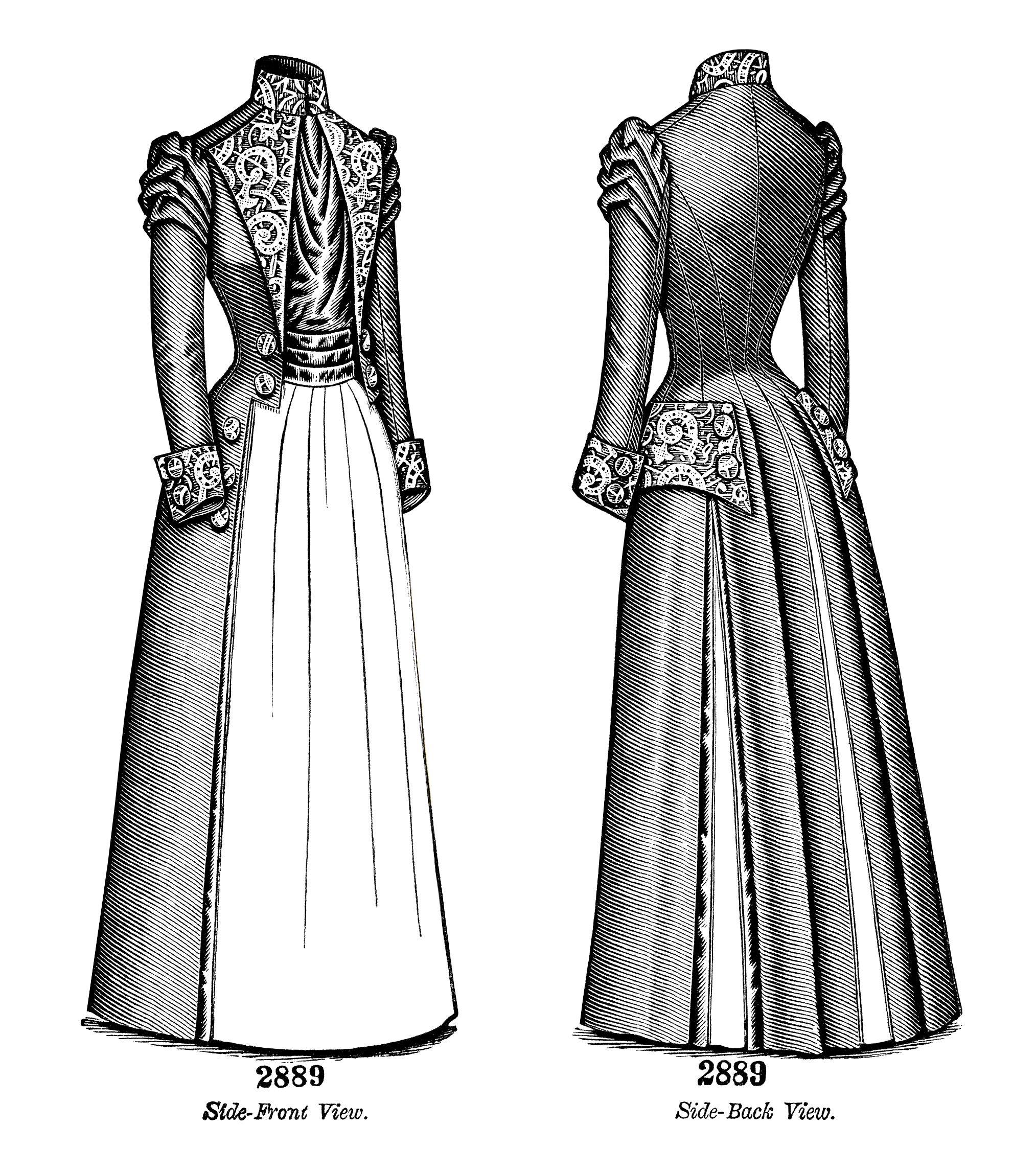 Victorian Ladies Coat Polonaise Free Clip Art Black And White Clip Art Version Fashion Clipart Victorian Women Coats For Women