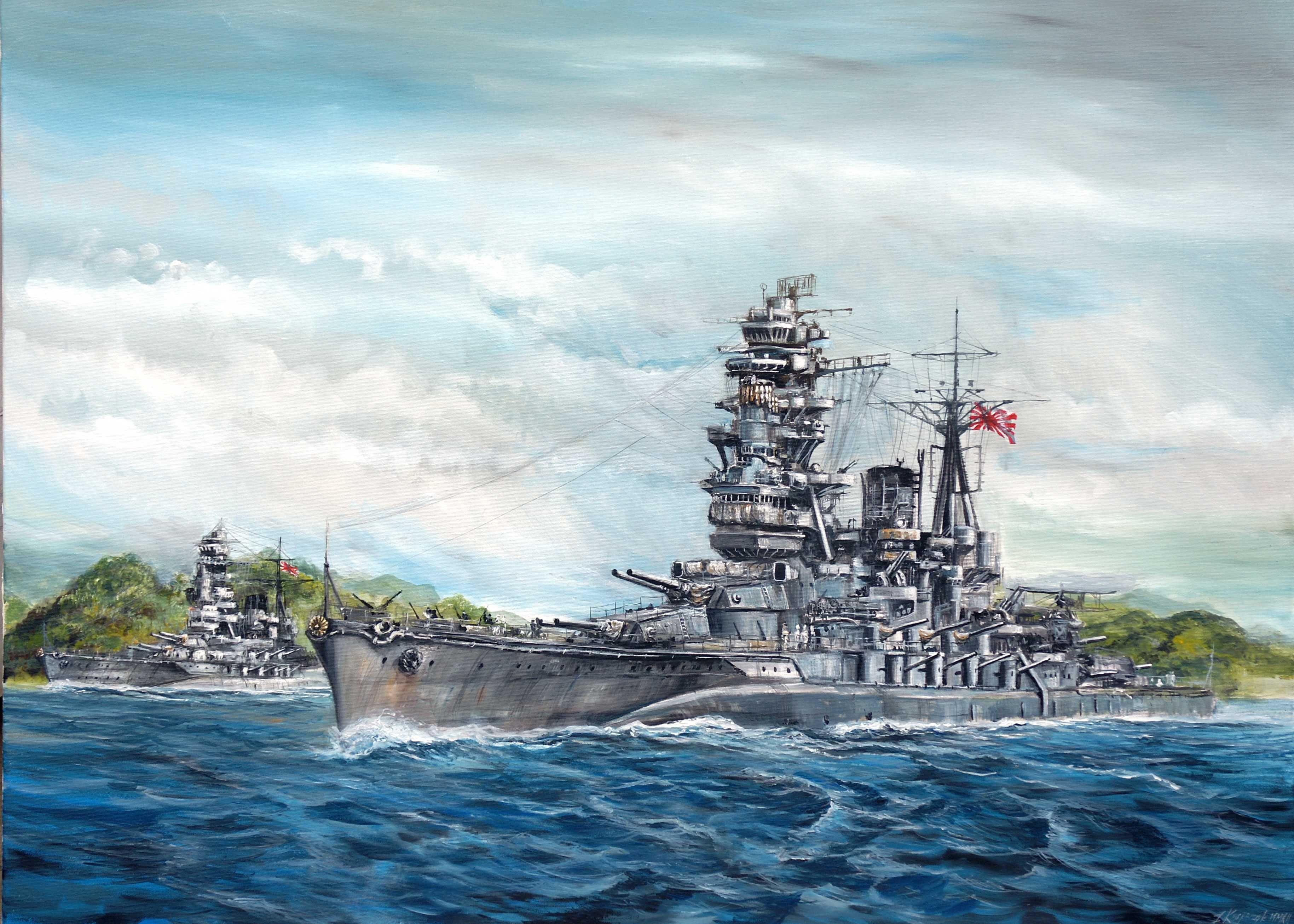 日本の戦艦陸奥の壁紙
