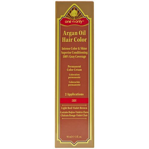 One N Only Argan Oil Hair Color Permanent Red Shades 5rv Light Red Violet Brown Argan Oil Hair Argan Oil Hair Color Hair Color