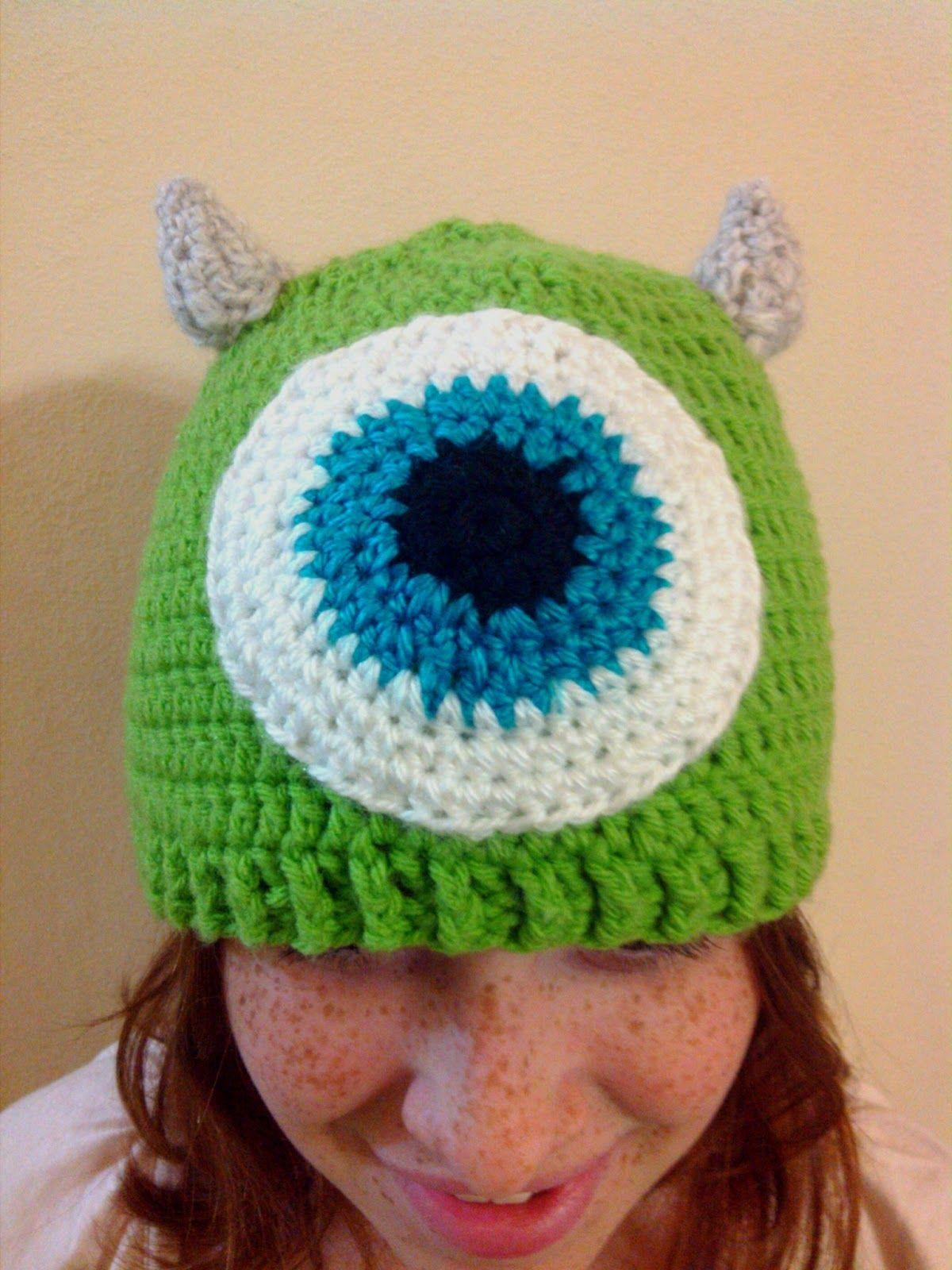 Su Crochet: Gorro monster inc mike wazowski