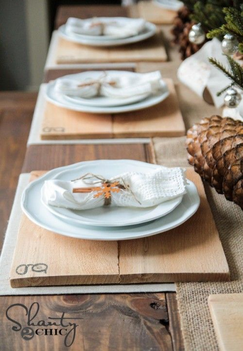Diy Wood Chargers Wood Placemats Wood Chargers Wood Diy