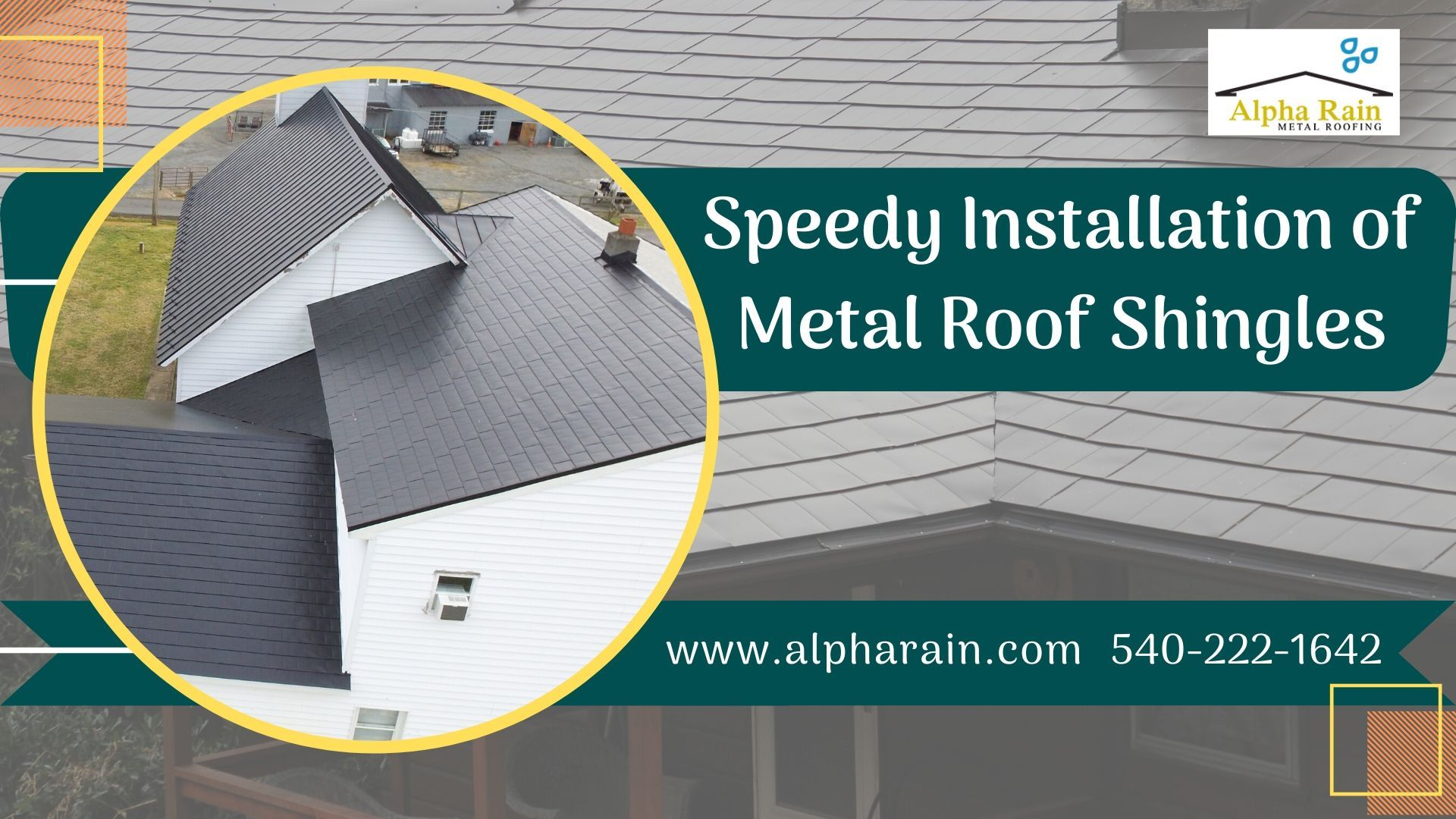 You Don T Have To Spend More Money On Temporary Asphalt Shingles When We Provide You Permanent Metal Shingles At Th In 2020 Metal Shingles Metal Shingle Roof Shingling
