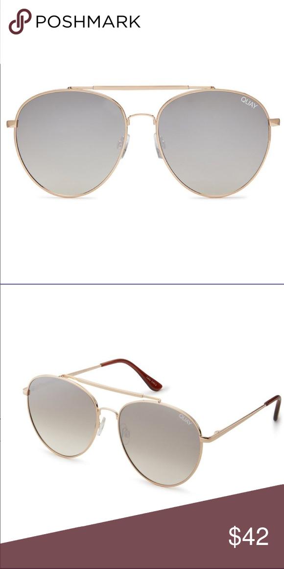 736935cd75883 QUAY Australia Lickety Split Gold Brown Aviator NWT. Quay Australia  Accessories Sunglasses