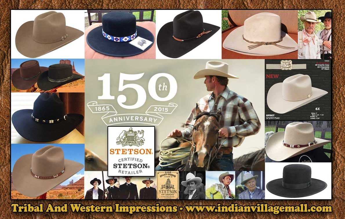 21629b145ee Stetson Western Hats From Tribal And Western Impressions -  www.indianvillagemall.com
