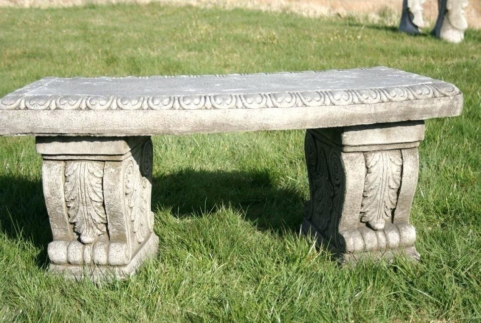 Garden Benches Lowes Bench Cement Bench Lowes For Garden Alexstand Club Cement Bench In 2020 Stone Garden Bench Concrete Garden Bench Outdoor Stone
