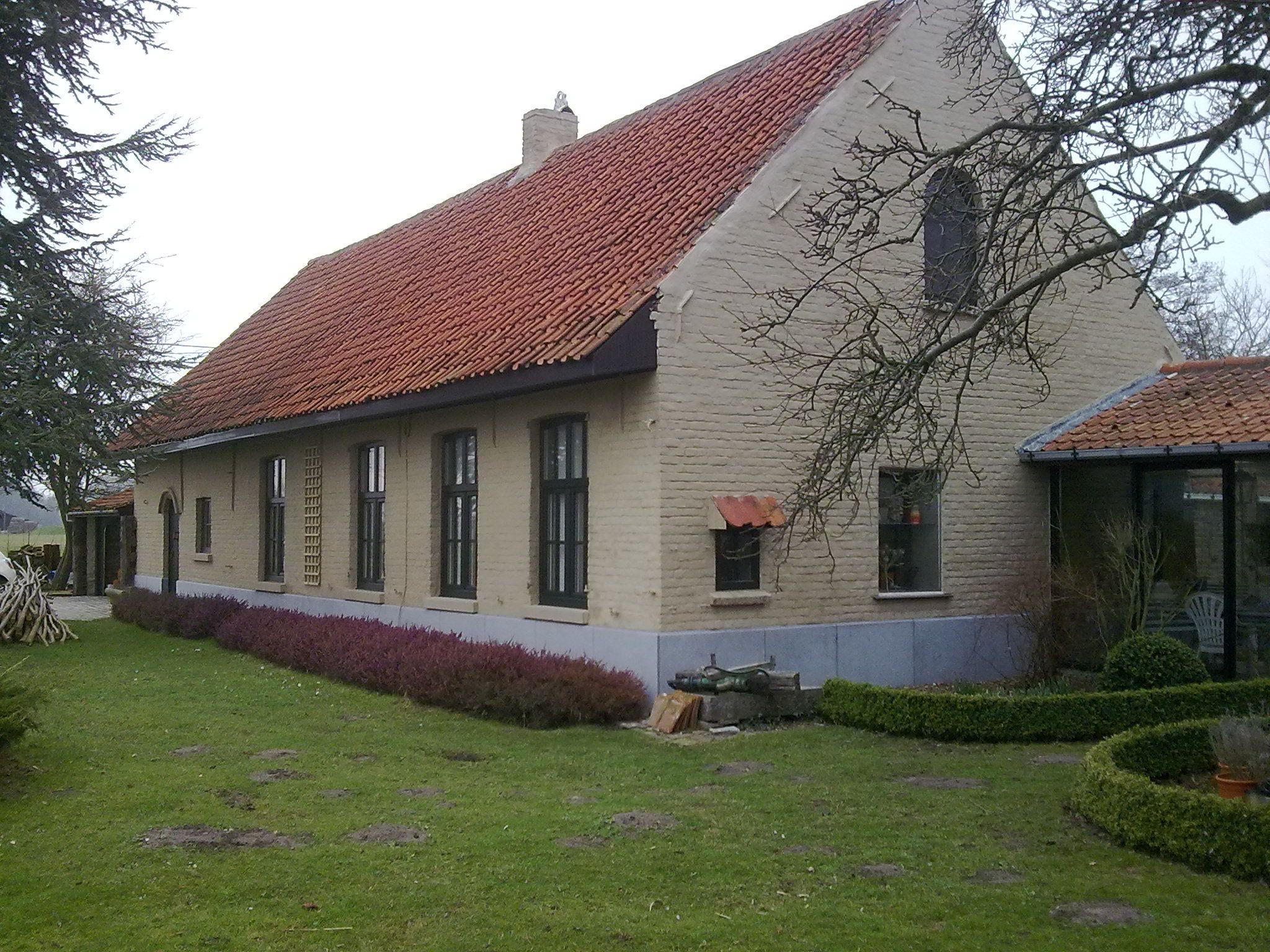 Totale renovatie van een oude hoeve in het meetjesland deze klus omvatte het renoveren en for Huis voor na exterieur renovaties