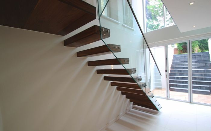 Nice Treppengelander Glas Treppenhaus Gestalten Schone Wohnideen