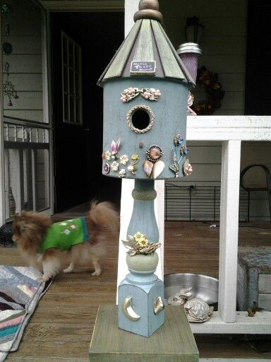 Blinging out the bird house