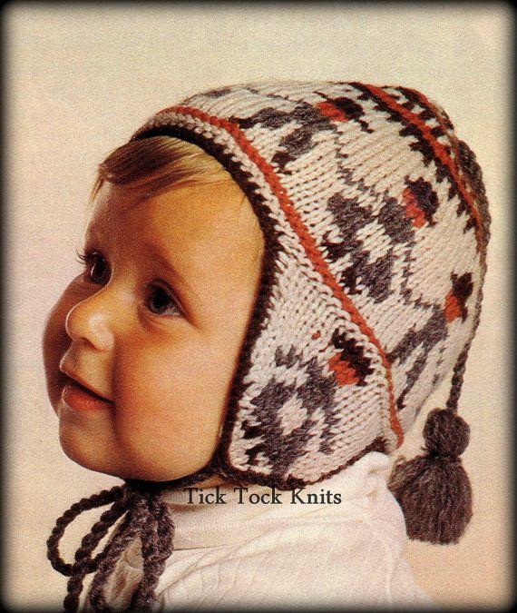 No.351 Baby Hat Knitting Pattern PDF Vintage - Peruvian Dancing ...