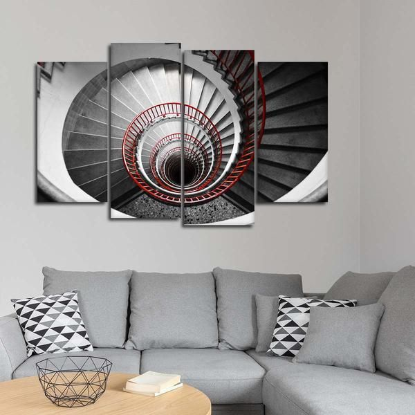 Best Spinning Stairs Pop Multi Panel Canvas Wall Art With 400 x 300