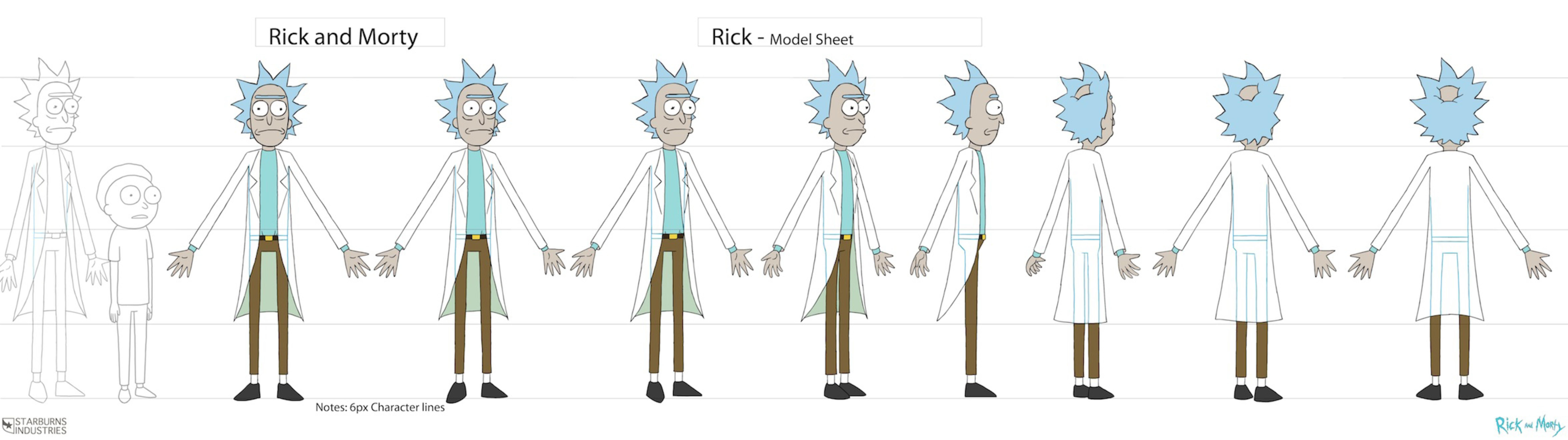 Exploring Character Design Pdf : Rick and morty storyboard guidelines