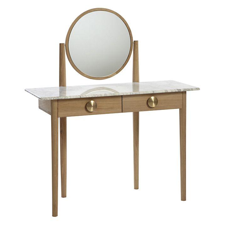Buy Bethan Gray for John Lewis Genevieve Marble Top Dressing Table, FSC Oak…