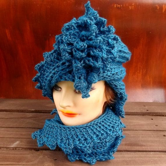 Crochet Hat Women Couture  LAUREN Cloche Hat by strawberrycouture, $50.00