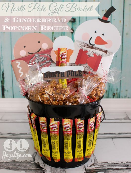 Christmas popcorn gift basket ideas