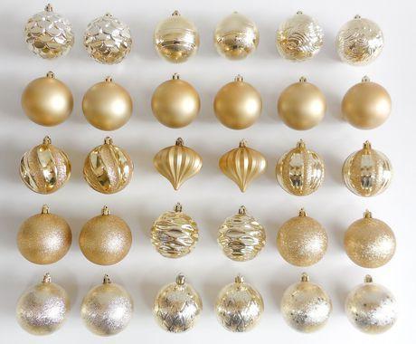Holiday Time 30-Piece Shatterproof Ornaments Walmartca