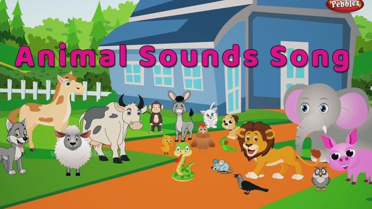 The Animal Sounds Song With animal in Train English