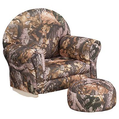 Flash Furniture Kids Camouflage Fabric Rocker Chair And Footrest