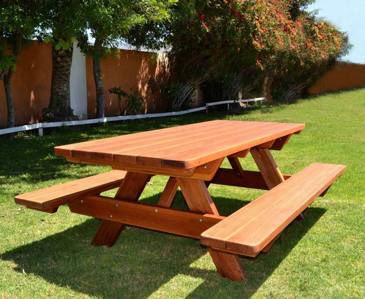 Remarkable Forever Picnic Tables Attached Benches Furniture Ibusinesslaw Wood Chair Design Ideas Ibusinesslaworg