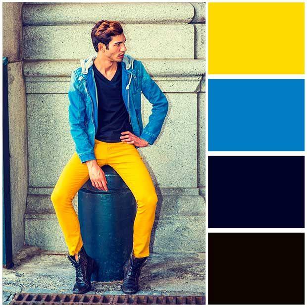 Como combinar colores de ropa hombre