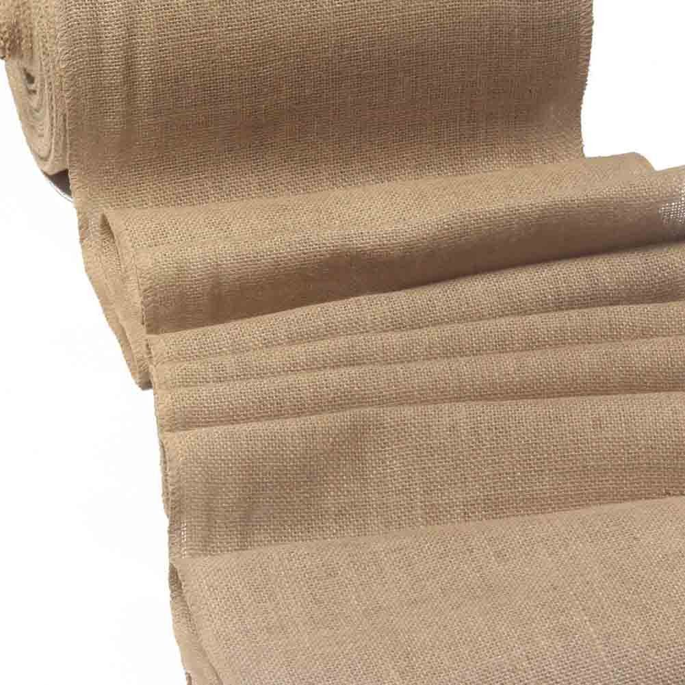 """12 inches by 10 yards 12/"""" No-Fray Burlap Roll Table Runner Craft ... Placemat"""