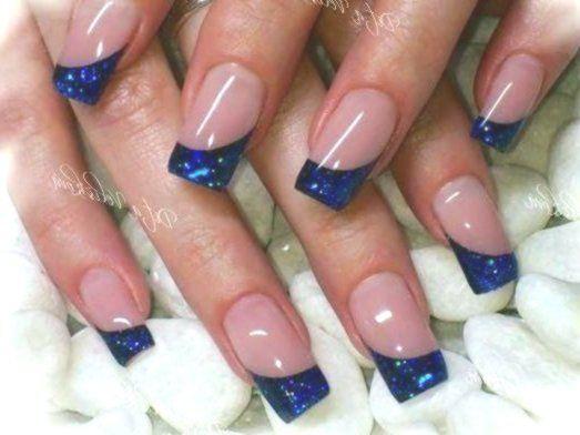 Cute French Nails Popular Haircuts Frenchnailsfancy Longnails Longnailideas Longcoffinnails Blue Nail Designs Nail Art Designs Blue Nails