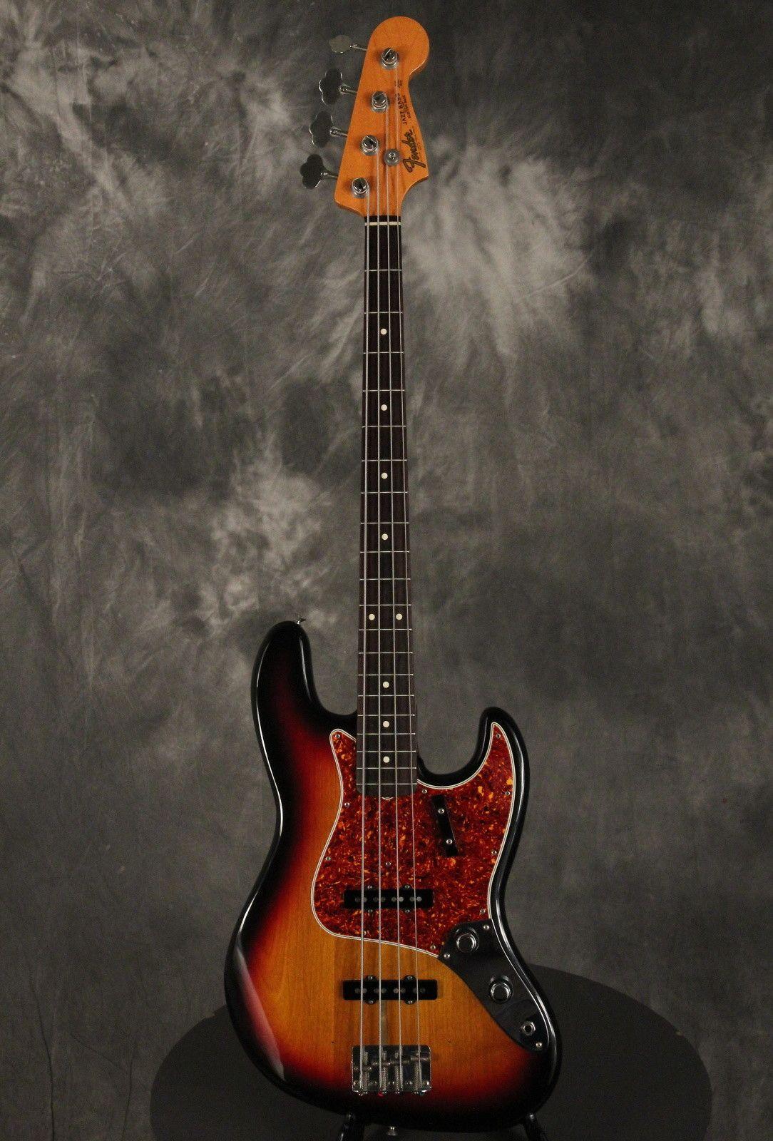 My eb bass squier vintage modified jazz bass - Fender Fullerton 1962 Jazz Bass Reissue Stack Knob W Papers 1983 Sunburst Reverb