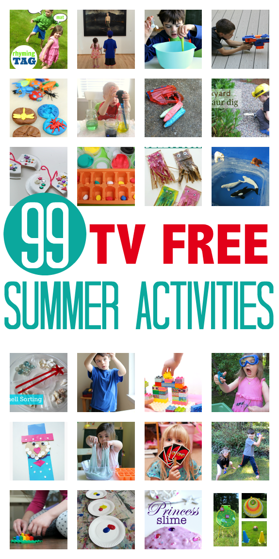 7115c59d8bb 99 TV FREE ACTIVITIES FOR KIDS Get your kids away from thier screens and  having fun! Great list of summer activities!