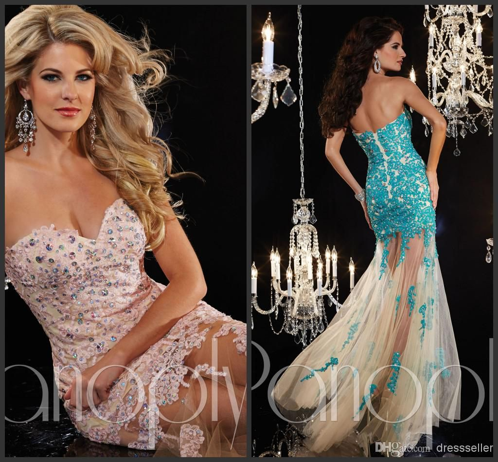 Discount panoply exquisite sweetheart see through mermaid long