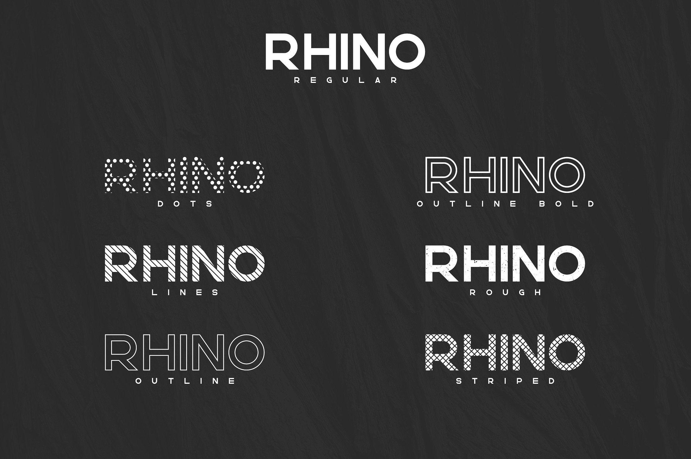 Rhino Bold font + Styles   50% off by Vladfedotovv on