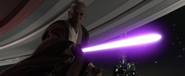 Mace Windu With Purple Lightsaber Duel With Darth Sideous Star Wars Revenge Of The Sith Mace Windu Purple Lightsaber Disney Plus