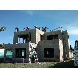 Construccion en bloques de hormigon Cinder block house