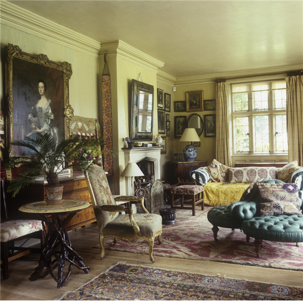The drawing room at the Manor House