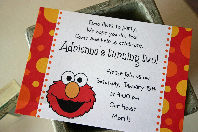 Elmo Invites   Wyatts Second Birthday Ideas   Pinterest   Elmo ...