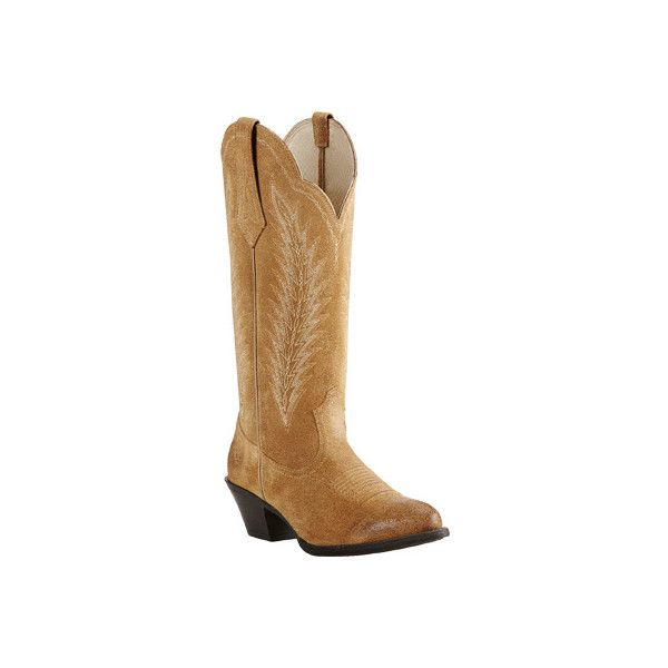 Women's Ariat Desert Sky Cowgirl Boot - Driftwood Brown Full Grain...  ($170) ❤ liked on Polyvore featuring shoes, boots, brown, casual, cowboy  boots, ...