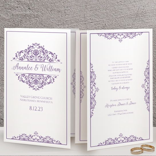 Wedding Program Template Edit Online