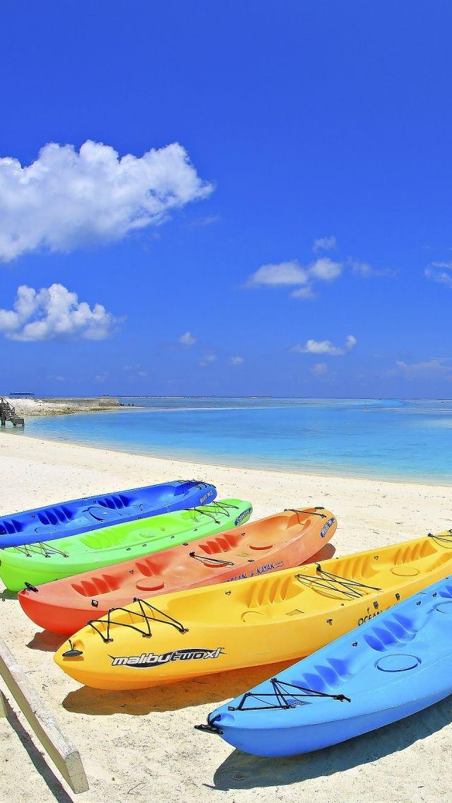 Maldives Beach Corner iPhone 5s Wallpaper   Color ...