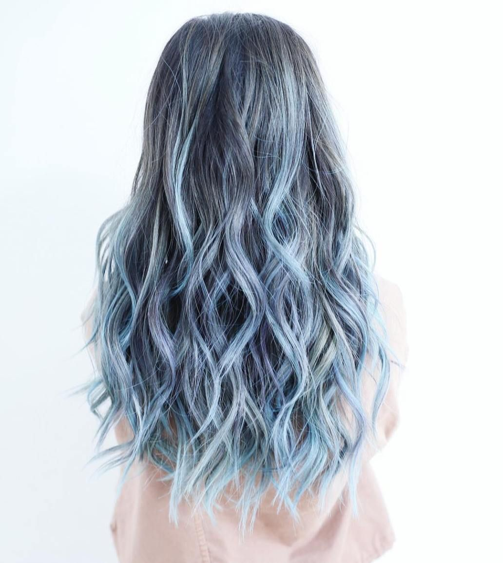 30 Icy Light Blue Hair Color Ideas For Girls Ombre Highlights