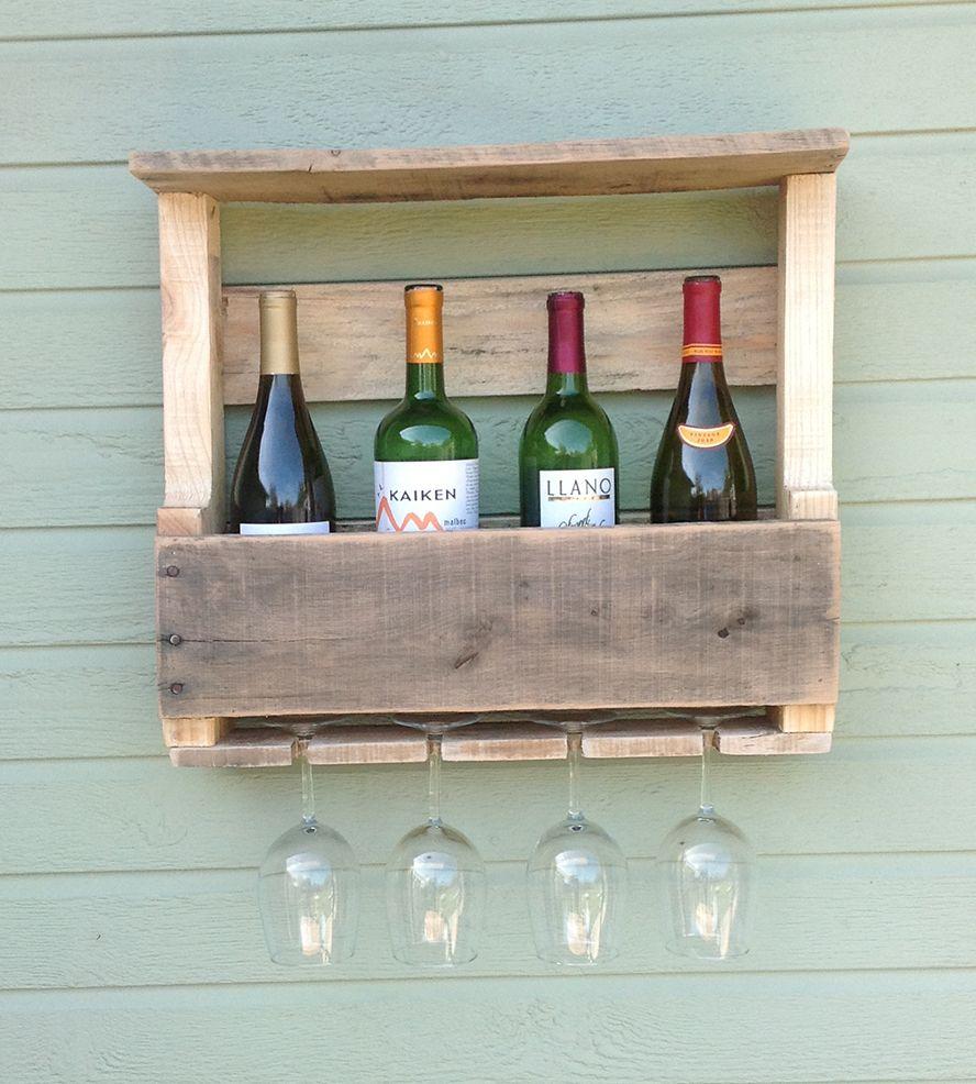 Reclaimed Wood Wine Rack Small