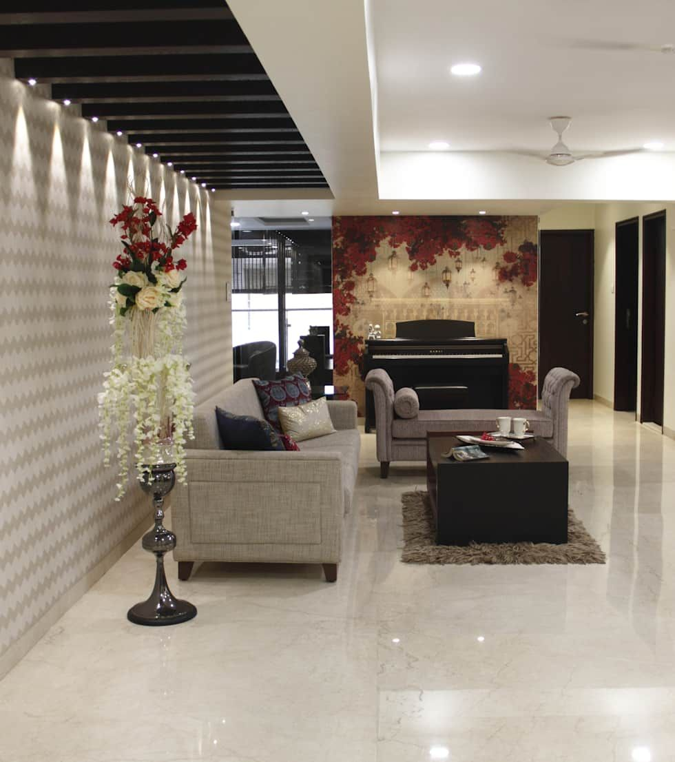 Serenity home! living room by neha changwani is part of Living Room Chairs Ceilings - Here you will find photos of interior design ideas  Get inspired!